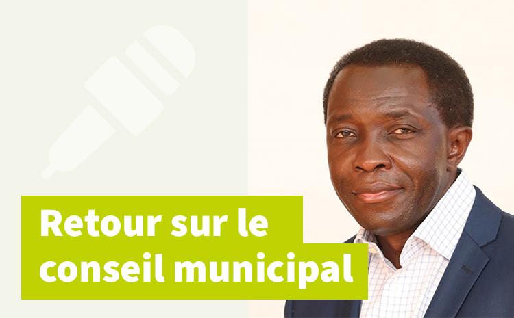 Conseil municipal du 5 juillet – Intervention de Joseph Nonga