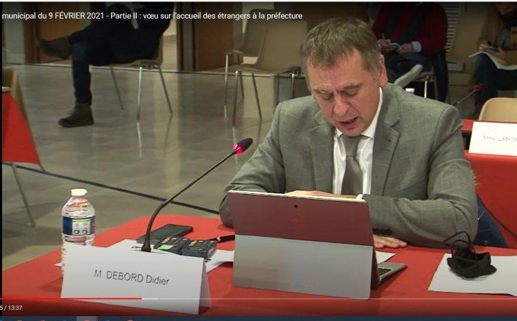 Les vidéos du conseil municipal du 9 février:   Didier  Debord