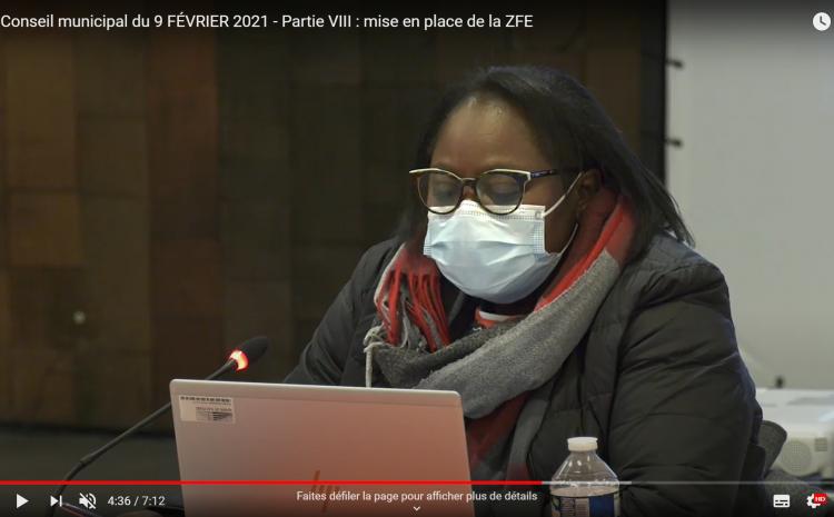 les vidéos du  conseil municipal du 9 février: Thérèse Ngimbous Batjôm