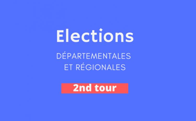 #Departementales #Regionales Résultats du 2nd tour