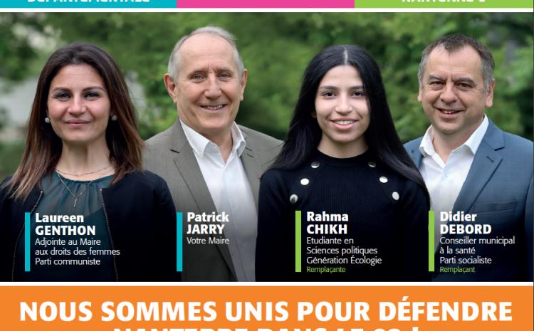 #Departementales2021 : dimanche, avec toute la gauche rassemblée, continuons de porter haut et fort les valeurs de Nanterre !