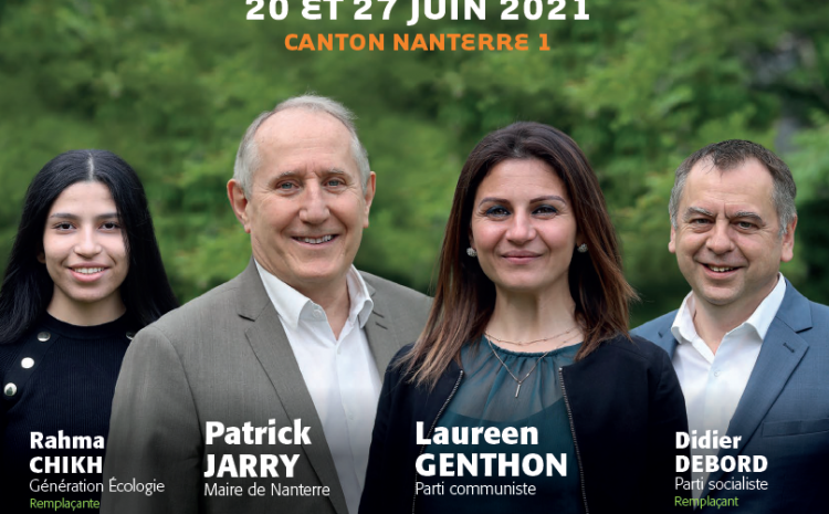 #Departementales – Canton Nanterre-1 : découvrez notre journal de campagne !