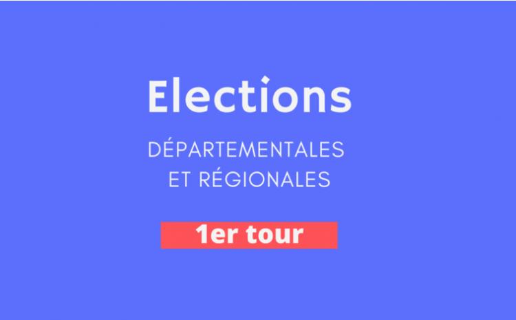 #Departementales #Regionales – Résultats du 1er tour