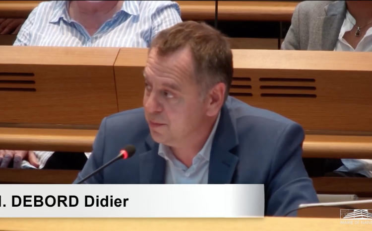 Les vidéos du conseil municipal du 5 juillet : Didier Debord